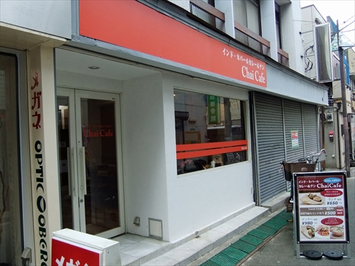 チャイカフェ1店頭